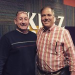 Director Steve Wheeler in studio with KPRZ radio host David Spoon