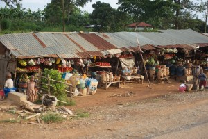 Open markets and lack of simple utilities like power and running water