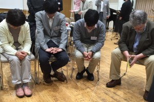 The pastors in Japan pray for our White Fields partners during the recent conference.